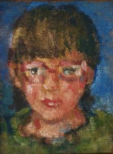 Rina, 2017, akril na juti, 24 x 18 cm