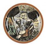 ARHEOLOŠKA ŠALA, keramostrip, podglazurna poslikava, 2r: 35 cm