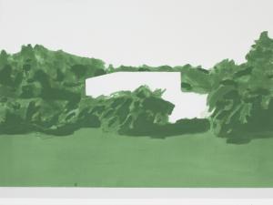 Nina Čelhar: Embedded II, 2019, akril na platnu, 54 x 80 cm