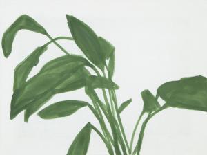 Nina Čelhar: Spatifil IV (detajl), 2017, akril na platnu, 30 x 40 cm